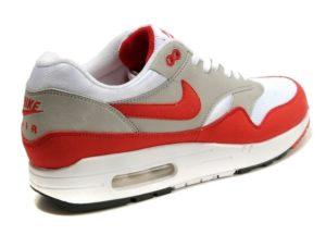 Nike Air Max 87 белый с красным и серым 35-40