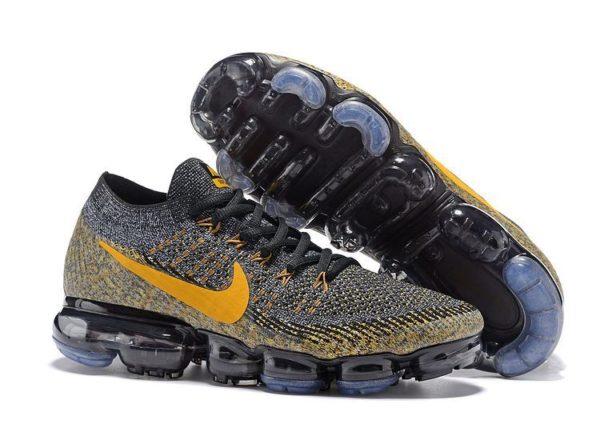 Nike Air VaporMax Flyknit черно-желтые 40-44