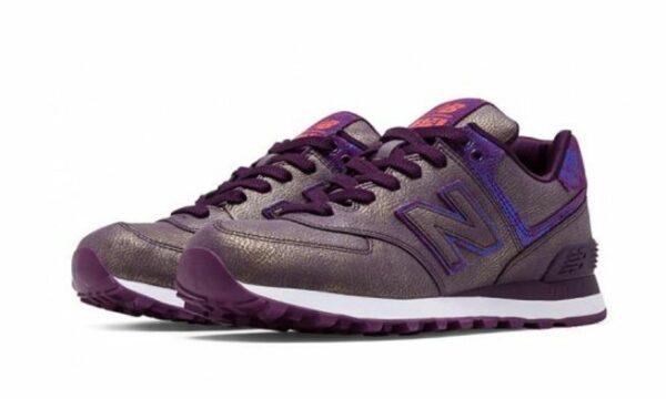 Серебряные замшевые кроссовки