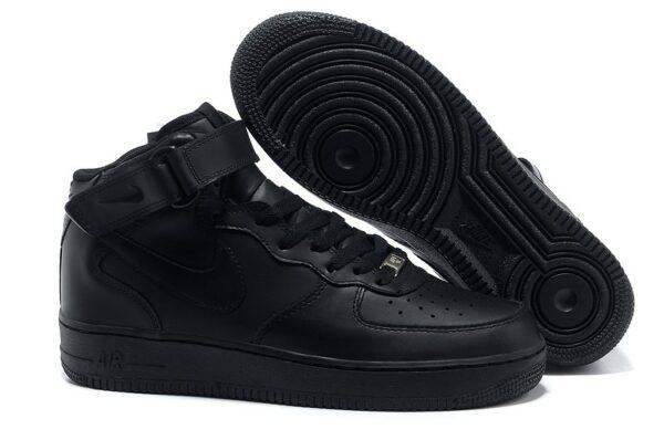 Кроссовки Nike Air Force 1 черные (35-45)