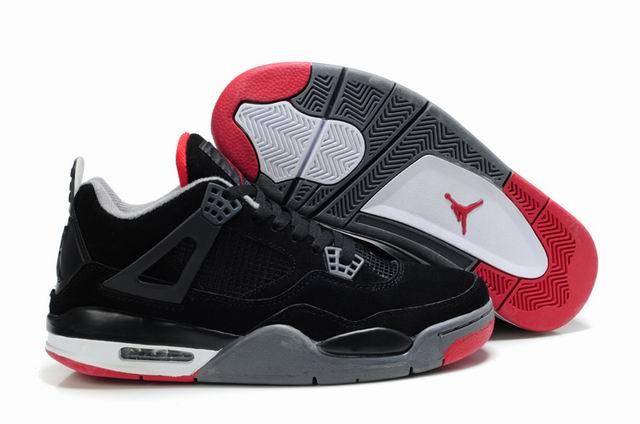 Nike Air Jordan 4 черные с серым (35-45)