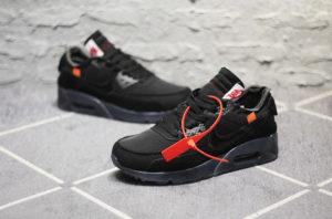 Nike Air Max 90 All Black OFF-WHITE x (40-44)