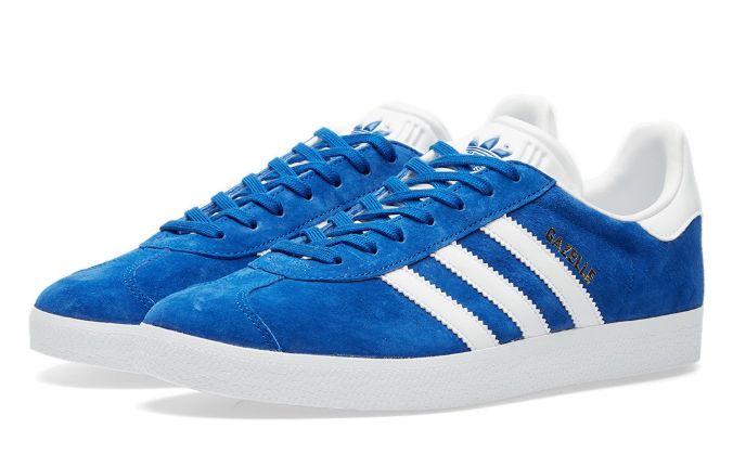 Adidas Gazelle синие с белым (35-44)