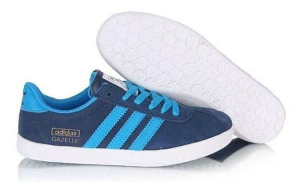 Adidas Gazelle Womens синие с белым (35-39)