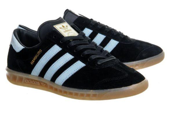 Adidas Hamburg черные со светло-синим (39-44)