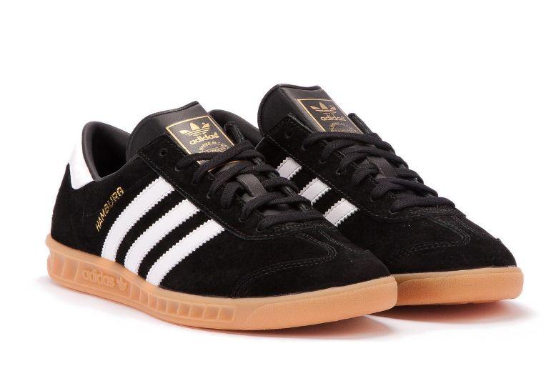 Adidas Hamburg черные с белым (35-44)