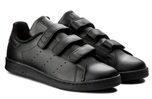 Женские кожаные кроссовки на липучках