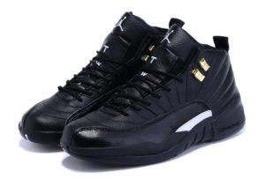 Nike Air Jordan 12 Retro черные с белым (40-45)