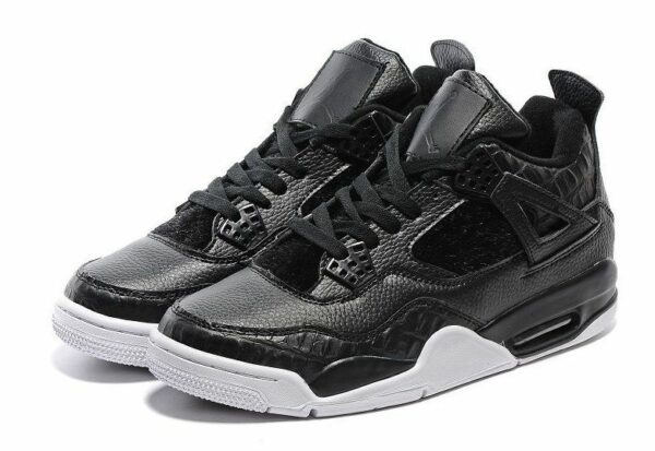Air Jordans 4 Retro черные кожа  (40-45)