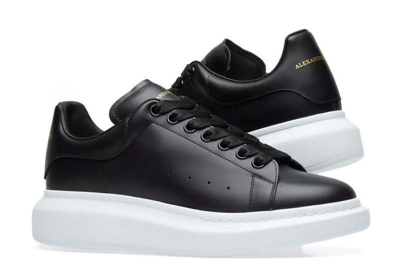 Alexander Mcqueen Leather черные с белым (35-44)