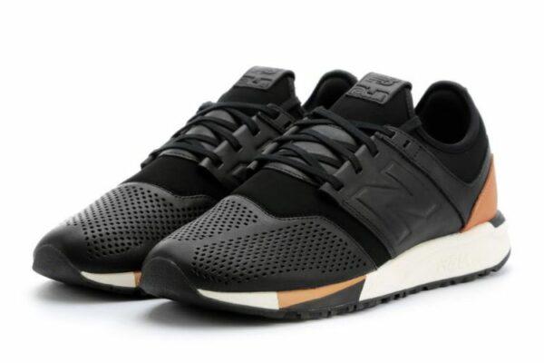 New Balance 247 черные с коричневым (39-43)