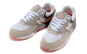 "New Balance 999 ""Cherry Blossom"" серые с белым и оранжевым (36-40)"