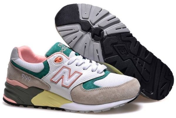 New Balance 999 разноцветные-фламинго (36-40)