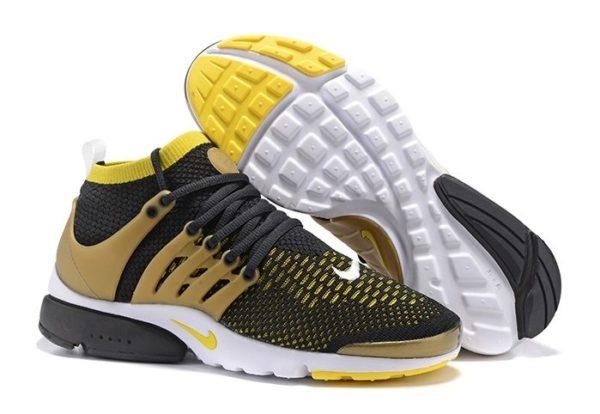 Nike Air Presto Flyknit Ultra черные с коричневым (39-44)
