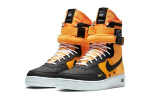 Nike Air Force 1 SF Mid черно-оранжевый (40-44)