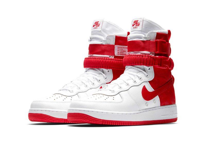 Nike Air Force 1 SF Mid красно-белые (40-44)