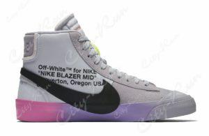 Off White x Serena Williams x Nike Blazer Mid фиолетовые (40-44)