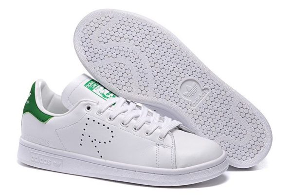Raf Simons x Adidas Stan Smith белые с зеленым (35-44)