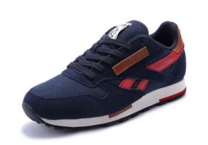 Reebok Classic Leather Utility синие с красным (40-44)