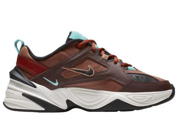 Nike M2K Tekno коричневые с бордовым (35-44)