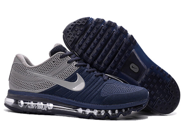 Nike Air Max 2017 с сеткой темно-синие с серым (40-44)