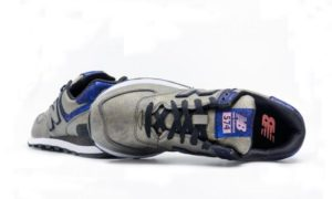 New Balance 574 серебро с синим 36-40