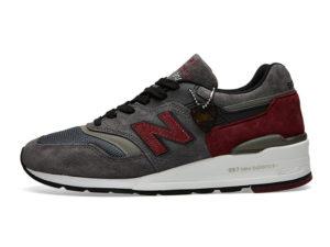 Кроссовки New Balance 997 темно-серые с красным (40-44)