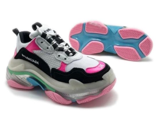 Разноцветные кроссовки Balenciaga