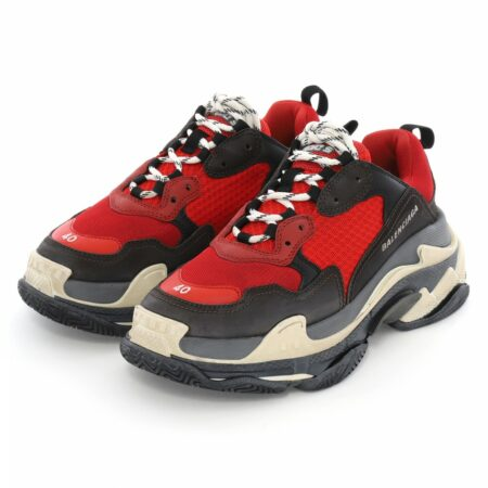 Balenciaga Triple S red/black  мужские (40-44)
