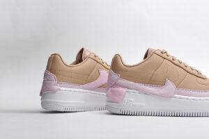 Nike Air Force 1 LV8 бежевые с розовым (35-39)