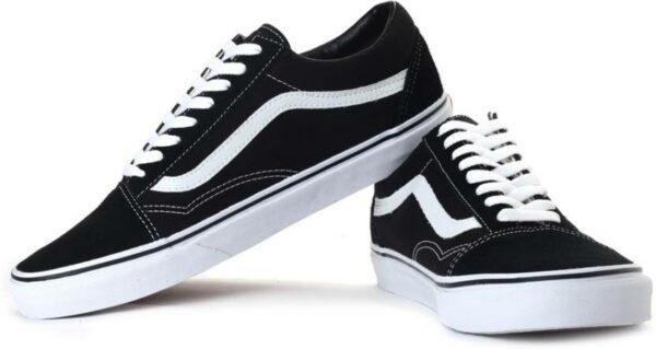 Кеды Vans black-white черные с белым 35-43