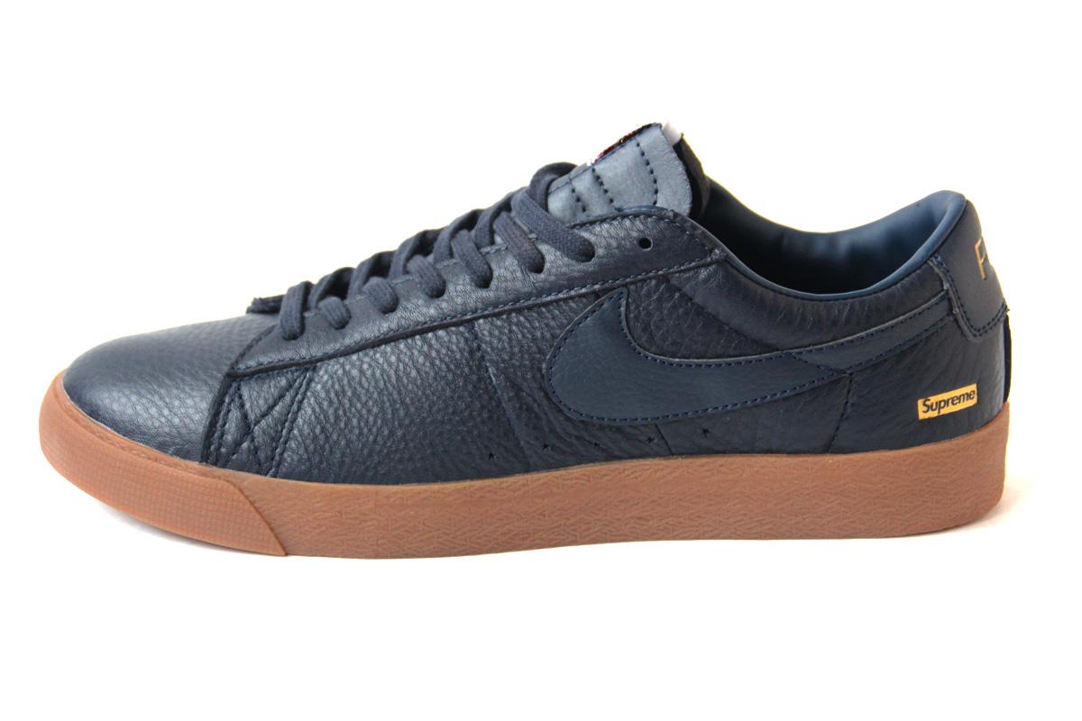 Nike SB Blazer Low GT x Supreme (Blue) (40-44) — купить в Челябинске, дисконт интернет-магазин StreetFoot.ru