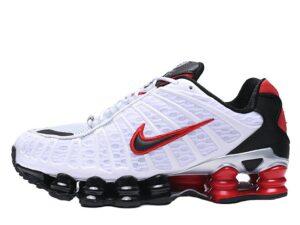 Nike Shox TL белые с черным и красным (40-44)