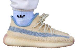 Adidas Yeezy Boost 350 V2 Static бежевые с синим (35-44)