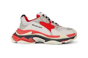 Balenciaga Triple S красные-белые-серые (35-44)