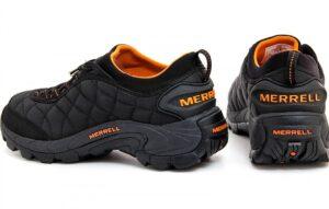 Merell Ice Cap Moc II черные-оранжевые (40-44)