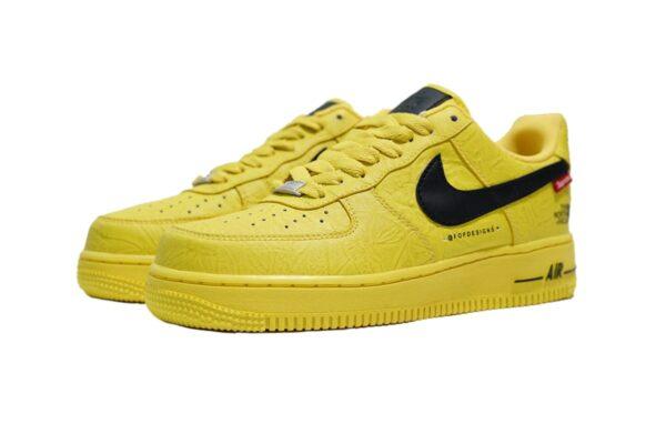 Nike Air Force 1 Lab Low жёлтые с чёрным (40-44)