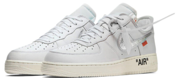 Nike Air Force 1 07 LV8 белые с серебристым (35-44)