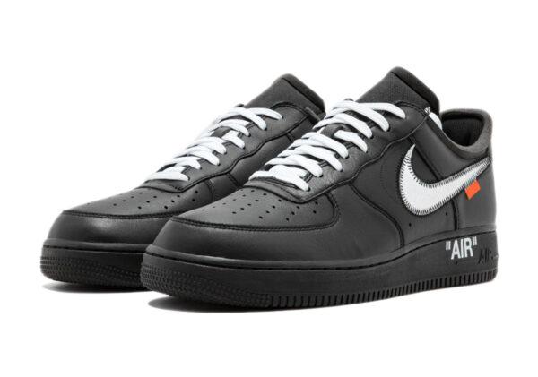 Nike Air Force 1 07 LV8 черные с серебристым (35-44)