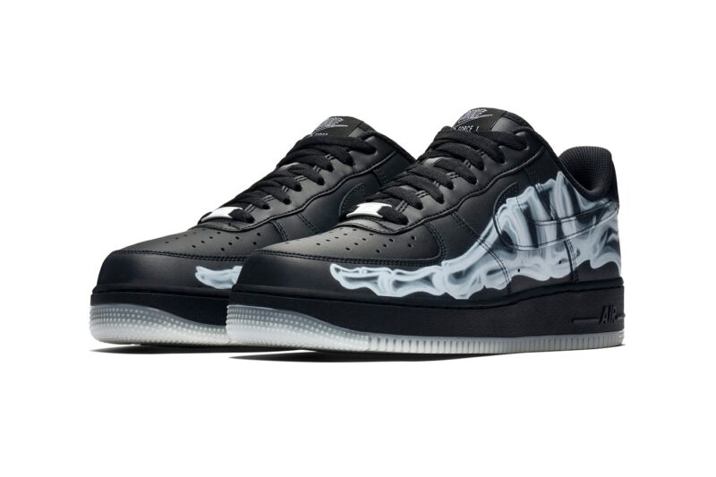 Nike Air Force 1 LV8 черные-скелет (40-44)