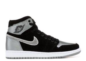 Nike Air Jordan 1 Retro черные с серым (40-44)