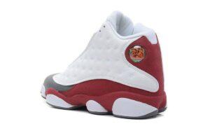 Nike Air Jordan 13 белые с бордовым (42-44)