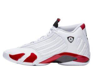 Nike Air Jordan 14 Retro белые с красным (40-44)