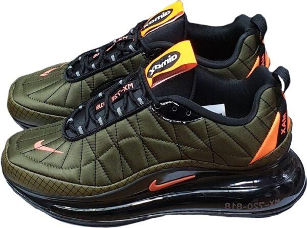 Nike Air Max 720 818 зеленые с оранжевым мужские (40-44)