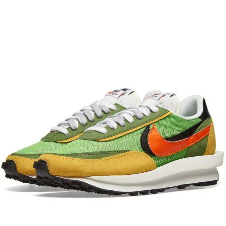 Nike Waffle Daybreak х Sacai зеленые-желто-оранжевые (40-44)