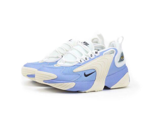 Nike Zoom 2k синие с белым кожаные женские (35-39)