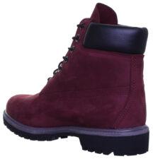 Зимние Ботинки Timberland 6 Inch Boots с мехом бордовые (35-39)