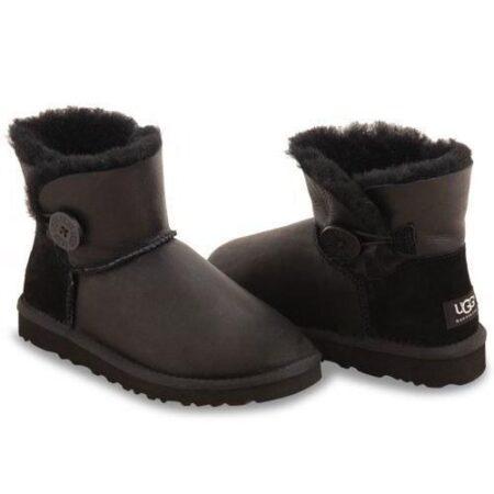 Зимние Ботинки UGG Bailey Mini с мехом черные (35-40)