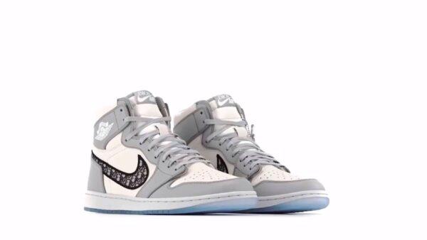 Dior x Nike Air Jordan 1 бело-серые (36-45)