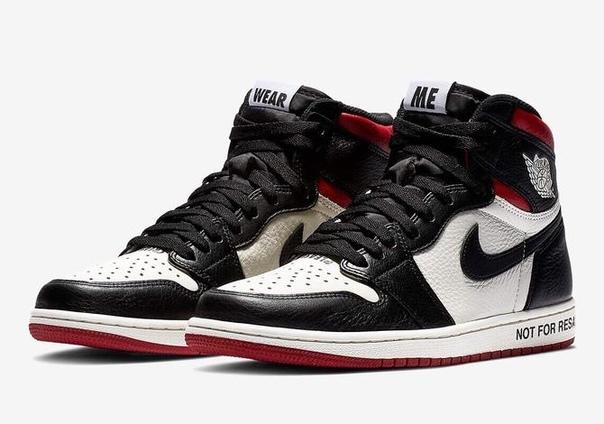 Nike Air Jordan 1 Retro черно-белые с красным (40-44)